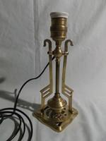 Régi réz asztali és falilámpa ------ billenő lámpa - hajó lámpa -1-