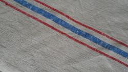 Kék-piros  csíkos szőttes törölköző