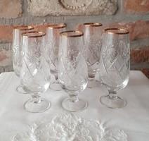 Kristály pezsgős pohár készlet