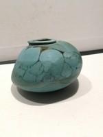 Amorf, türkizkék -fekete   váza