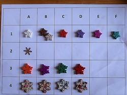 30 mm gomb, gyűjteményből scrapbookinghoz, ruhára, táskára,hópehely, hópihe