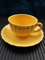 Kispesti sárga gránit csésze csészealjjal-40-es evek Meinl kirakatából
