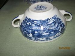 Angol kék  leves csésze Grindley