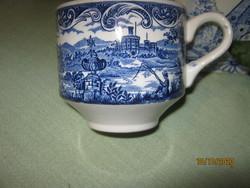 Angol kék  csésze