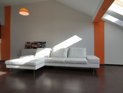 Andante Credo nagy méretű fehér bőr kanapé