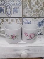 2 db virág mintás Alföldi teás csésze