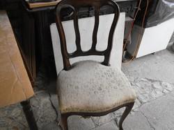 Antik Neobarokk  2db szék Szalon  vagy étkező Garnitúra része epedás  vintage