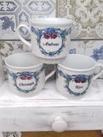 3 db porcelán teás  csésze
