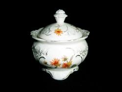 Nagy méretű német Wallendorf (?) porcelán cukortartó