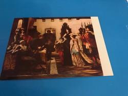 Madarász Viktor festményét ábrázoló képeslap