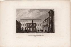 Országos Képzőművészeti Iskola, acélmetszet 1850, eredeti, 10 x 15 cm, metszet, Párizs, beaux arts