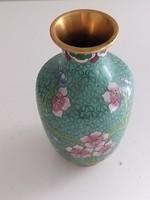 Kézzel festett keleti mintázatú kerámia váza
