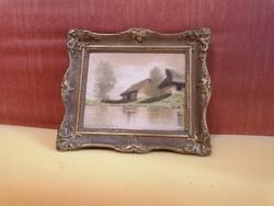 Szepesi Kuszka Jenő gyönyörű festménye eredeti keretben