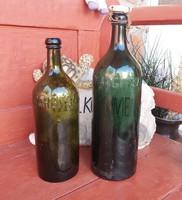 2 db Margitsziget üveg , nosztalgia darabok