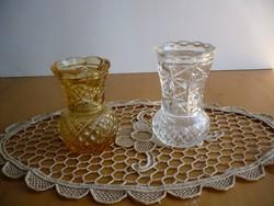 2 db ibolya öntöttüveg váza