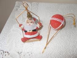 Régi karácsonyfa dísze  együtt