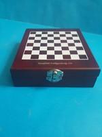 Utazó sakk készlet + használati tárgyak