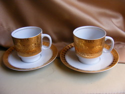 Epiag Praga aranyozott kávés csésze + alj