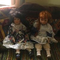 Porcelánfejű babák párban