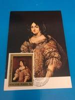 Zrinyi Ilona portréja lépeslap