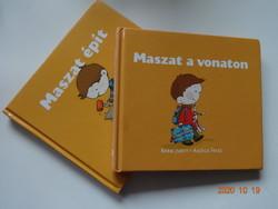 Berg Judit: Maszat épít + Maszat a vonaton - két mesekönyv együtt Agócs Írisz rajzaival