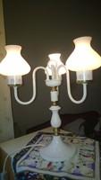 Három águ szép fehér asztali lámpa, hibátlan +ajándék