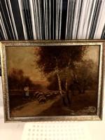 Csoda szép szignált  festmény ! 56x46 kerettel