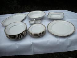 Zsolnay étkészlet (uzsonnázó-vacsorázó) 17 db-os  110 éves, ritkaság.