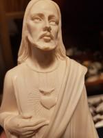 Jézus szíve részletgazdag alabástrom szobor