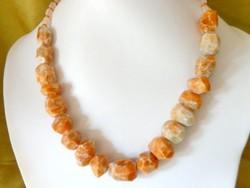 Narancs Kalcit csodálatos szinű ásvány nyaklánc