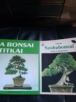 A Bonsai titkai-Szobabonsai.2 db könyv.