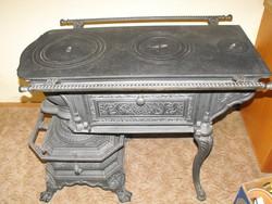 Extra Ritka Sparhelt kályha öntöttvas Szép Komplett 1880 Gyűjtői darab vaskályha