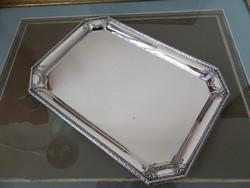 Szögletes ezüst tálca