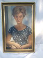 Vinkler László női portré.