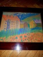 Czóbel szignós festmény
