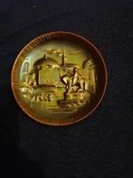 Zsolnay eozin mázas régi pici tányér