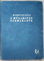 MITROVICS GYULA : A MŰALKOTÁS SZEMLÉLETE  1940