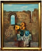 Garabuczy Ágnes (1936) Régi idők emlékére c. Képcsarnokos festménye EREDETI GARANCIÁVAL !
