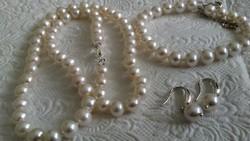 Édesvízi tenyésztett gyöngy szett 925 ezüst kapcsolóval