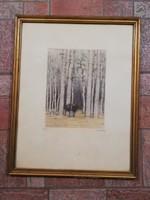 Csillag József (1894-1977)  Színezett rézkarc