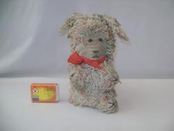 Régi horgolt kutya - fellelt állapotban - nosztalgikus darab