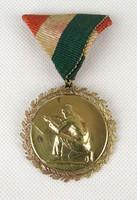 1B606 Régi jelzett Huguenin réz lövészet díj érdemérem cca 1930