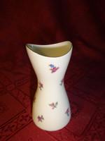 Aquincum porcelán váza, apró virágokkal, magassága 9 cm.