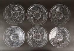 1C243 Retro hat személyes üveg tányér készlet