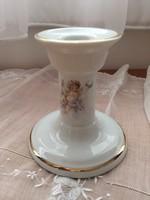 Angyal mintás porcelán gyertyatartó