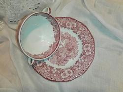 Angol,Unicorn leveses csésze alátét tányérral.