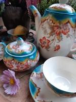 Fajansz kávés készlet szép színekben