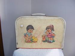 3 napig 500 ft...Antik gyermek kicsi papír játék táska