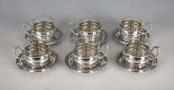 Ezüst 6 személyes csésze szett
