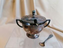 Mustáros fűszeres fedeles ezüstözött